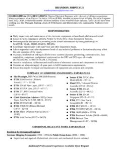 Electrical Engineering Resume Example