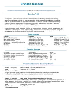 HR General Manager Resume Example