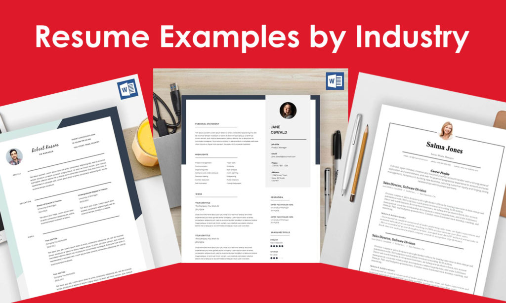 Free Resume Examples by Industry – Download and Get Hired in 2021